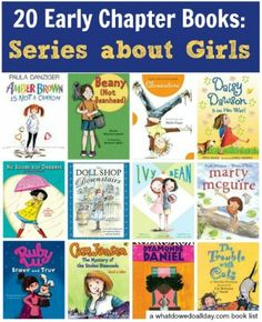 List of early chapter book series about girls. Click through for all the recommendations.