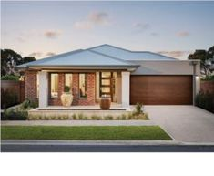 We have a range of new home designs with luxury inclusions and ultimate flexibility for families! Discover our new home designs in Melbourne at Metricon. Modern Brick House, Modern House Facades, Duplex Design, House Design, Two Storey House Plans, Delta House, Melbourne House, Storey Homes, New Home Designs
