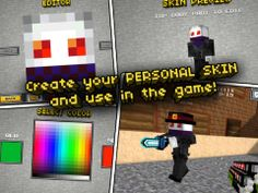 Top iPhone Game #86: Pixel Gun 3D - Block World Pocket Survival Shooter with Skins Maker for minecraft (PC edition) & Multiplayer - Alex Krasnov by Alex Krasnov - 03/04/2014