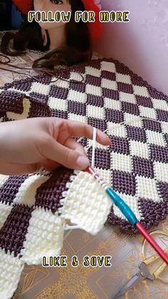 Crotchet Patterns For Beginners, Crochet Rug Patterns, Beginner Crochet Projects, Crochet Stitches, Crochet Crafts, Easy Crochet, Free Crochet, Enterlac Crochet, Crochet Brooch