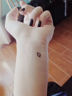 Stick and poke tattoo- It may look like just a leaf but it has a whole lot more meaning to me :3 #stick and poke #tattoo #leaf