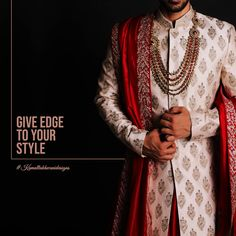 Give edge to your style! Groomsmen, Your Style, Ethnic, Kimono Top, Menswear, Mens Fashion, Wedding Dresses, How To Wear, Fashion Design