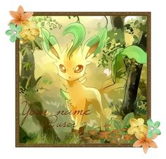 """""""Open Leafeon Icon"""" by adventuretimekitty ❤ liked on Polyvore featuring art, open, openicon, Pokemon and leafeon"""