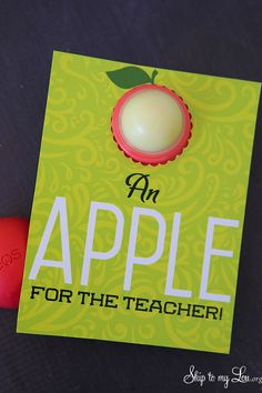 Easy and inexpensive free printable teacher gift idea: EOS lip balm holder and note