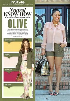 Neutral Know-How Colors to wear with Olive via InStyle