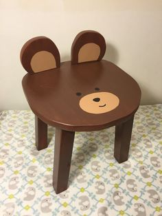 Black Bear Chair | Toddler Stools | Hand Painted Wooden Animal Stool |  Childrenu0027s, Kids, Toddler Furniture | Woodland Animal Theme Nursery