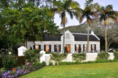 An immaculately restored Dutch homestead with an award-winning restaurant, Grande Roche Hotel is set in immaculately manicured gardens in the famous Paarl wine region. D House, Facade House, House Facades, Holland, South African Homes, Cape Dutch, Dutch House, Namibia, Dutch Colonial