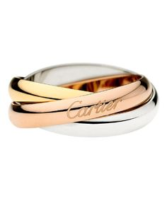Cartier Trinity Ring: Released in 1924, this iconic collection boasts three colors of 18-karat gold that symbolize the different stages of a relationship - white for friendship, rose for love, and yellow for fidelity.