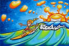 Surf Art Painting Drew Brophy 8 Modern Art Painting Bryce Pictures ...