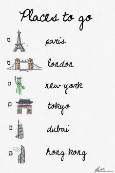 the ultimate travel wishlist