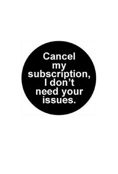 """I'm clearing out the clutter in my life. 