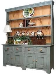 Antique english pine georgian hutch cabinet buffet ca for British traditions kitchen cabinets