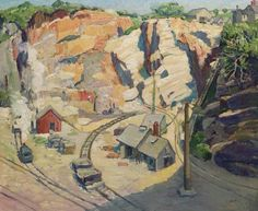 """""""A Marble Quarry at Gloucester,"""" Leon Kroll, oil on canvas, 26 x 32"""", private collection."""