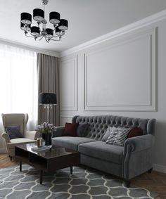 Decor Home Living Room, Living Room Green, Living Room Designs, Neoclassical Interior Design, Classic Living Room, Lounge Design, Home Room Design, Living Room Inspiration, Apartment Design