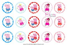 My Little absolutely LOVES Peppa Pig so I made these for her hair bows =) Enjoy!