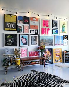 bold colorful teen hang out, teen girl room decor with light wall art, gallery . - home decoration bold colorful teen hang out, teen girl room decor with light wall art, gallery … – Bonus Room Design, Design Room, House Design, Diy Design, Design Ideas, Design Trends, Bright Walls, Bright Rooms, Eclectic Living Room
