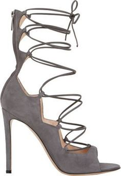 36564d0d0053 Gianvito Rossi Suede Lace-Up Sandals Lace Up Sandals