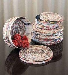 Arte com papel - Artesanato e Reciclagem: Pensei Diferente!