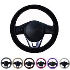 Automobiles & Motorcycles 38cm Stiching Steering-wheel Cover Microfiber Leather Steering Wheel Covers Non-slip Skin Feel Car-styling Accessories