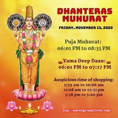 Dhanteras 2020 Muhurat Spiritual Dimensions, Astrology, Psychology, Spirituality, How To Plan, Life, Psicologia, Spiritual