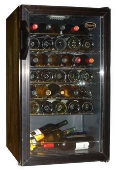 Small Wine Cellars - Vinotemp 34 Bottle Wine Cellar  Black Finish * You can get more details by clicking on the image.