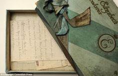 Victorian love letters recently purchased by Lancashire Archives. Survived for many years in an old chocolate box!