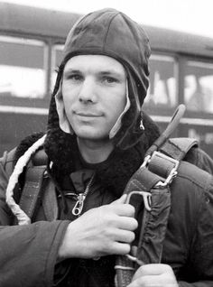 Cosmonaut Yuri Gagarin during training in April 1961 by TASS