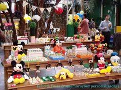 .: Felicità Festa . comemorações personalizadas :.: Festa com montagem.Tema Mickey {Nicolas - 3 anos}