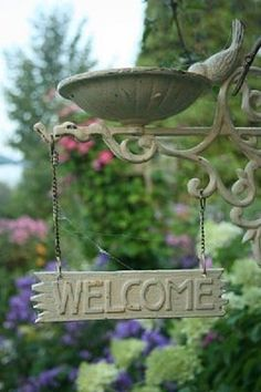 We have a new Welcome sign for Victoria's Garden Guest House. Isn't it sweet?.....