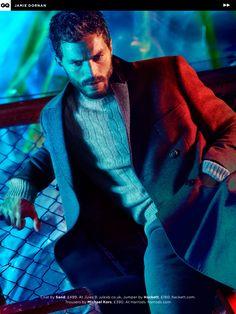 Fifty Shades Updates: HQ SCANS: Jamie Dornan in British GQ (Feb. 2015)