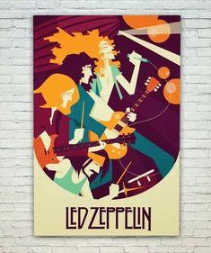 Posterskart Led Zeppelin Art Poster: Amazon.in: Home & Kitchen