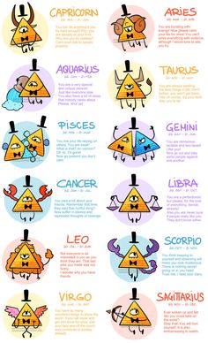 Zodiac Signs- The Bill Cipher Version