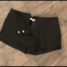 Charlottes Russe Black Dress Shorts Black dress shirt from Charlotte Russe.  Worn once. Not too too heavy but not too light of material either. Charlotte Russe Shorts