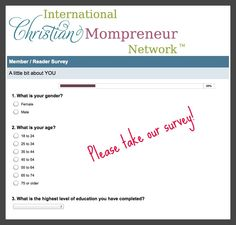 If you are a #Christian mom entrepreneur, I'd love your feedback on this!