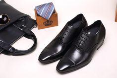 in stock 129a2 c0aa0 zapatos con alzas vestido de cuero de vaca zapatos formales para llegar más  alto 2.95 pulgadas