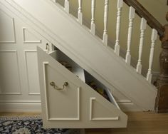 smart under staircase storage Storage Design, Pictures, Remodel, Decor and Ideas