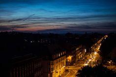 ulica Strzelców Bytomskich po zmroku | Bytom | fot. Natalia Bojanowicz