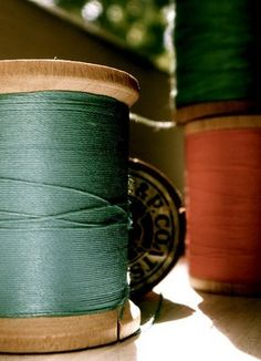love how this shot shows the texture of the thread