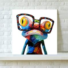 Commandez Large Size Abstract Canvas Print Wall Decor Frog or Elephant Canvas Print Modern Art Frog Poster Mural Art for Living Room Bedroom Decoration Unframed sur Wish - Acheter en s'amusant Dog Canvas Painting, Canvas Wall Art, Canvas Prints, Framed Canvas, Art Prints, Elephant Canvas, Arte Pop, Mural Art, Wall Art Pictures
