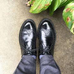 Heinrich Dinkelacker  今日は遅くなるのでむくんでも痛くならない靴です #heinrichdinkelacker #shoes #shoesoftheday #mensshoes #sotd #ハインリッヒディンケラッカー #ハインリッヒディンケルアッカー #紳士靴 #革靴