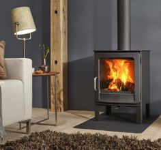 Ivar 5 High EA - Dik Geurts freestanding wood or multifuel stove. Wall Gas Fires, Wood, Home, Wood Burning Logs, Fireplace Accessories, Freestanding Fireplace, Stove, Fireplace, Wood Burning Fireplace