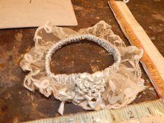 vintage satin lingerie lace garter belt wedding antique blue satin dress glam