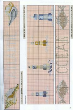 ru / Фото - Fil et Idees - simplehard Cross Stitch Embroidery, Cross Stitch Patterns, Sewing Art, Le Point, Beach Themes, Seaside, Gallery, Nautical, Oceans