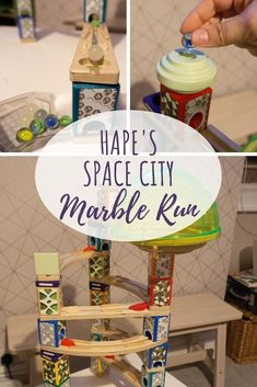Scrapbook Blog Toys: Hape Space City Marble Run  Find out why this marble run can make a great toys for kids! #toys #marbles