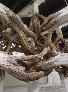 Baitogogo Installation at Palais de Tokyo, Paris by Artist Henrique Oliveira Modern Art, Contemporary Art, Organic Art, Art Sculpture, Ribbon Sculpture, Installation Art, Art Installations, Architecture, Art Forms