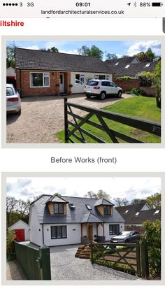 bungalow exterior remodel results - ImageSearch Bungalow Interiors, Bungalow Renovation, Bungalow Homes, Bungalow Porch, Bungalow Ideas, Bungalow Extensions, House Extensions, Home Exterior Makeover, Exterior Remodel