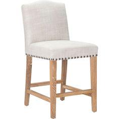 Zuo Modern Pasadena Counter Chair In Antique Oak Wood Beige Finish 98601