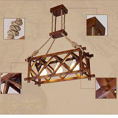 3W Lustres , Tradicional/Clássico / Vintage / Retro / Rústico Outros Característica for LED Madeira/BambuSala de Estar / Quarto / Sala de 4411248 2017 por R$856,96
