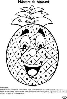 Maestra De Infantil Frutas Dibujos Para Colorear Actividades