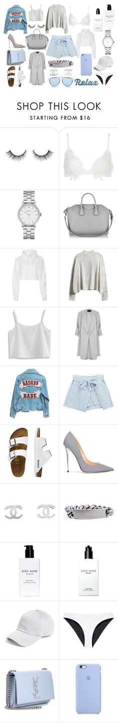 """beachgirl"" by albarebekka on Polyvore featuring Mode, For Love & Lemons, Marc by Marc Jacobs, Givenchy, River Island, H&M, Chicwish, Chicnova Fashion, TravelSmith und Jimmy Choo"